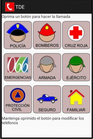 TDE: Teléfonos de Emergencia