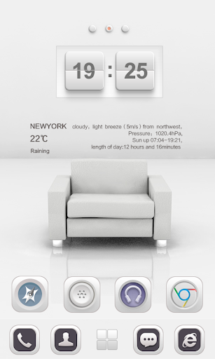 White Soul GO Launcher Theme v1.0 screenshots 3