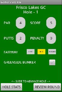 Golfer Stats Pro- screenshot thumbnail