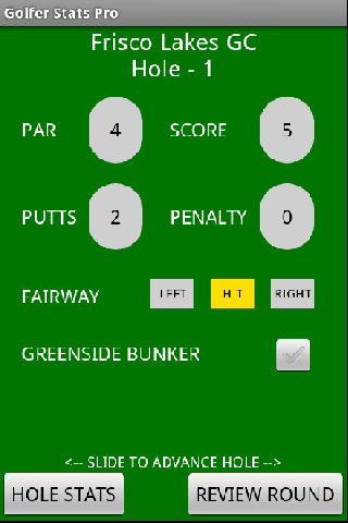 Golfer Stats Pro- screenshot