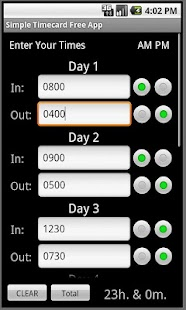 Simple Timecard - screenshot thumbnail