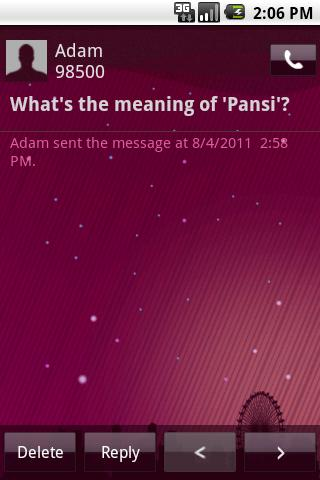 Easy SMS PurpleNight theme - screenshot