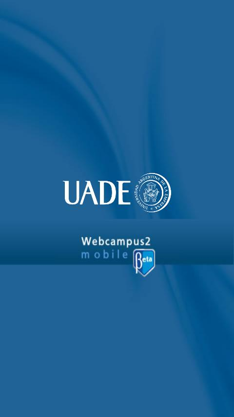 UADE Webcampus - screenshot