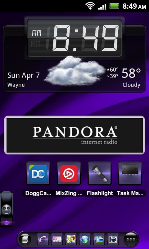 TSF Shell Theme Purple Wind HD- screenshot
