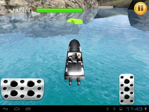 停摩托船3D