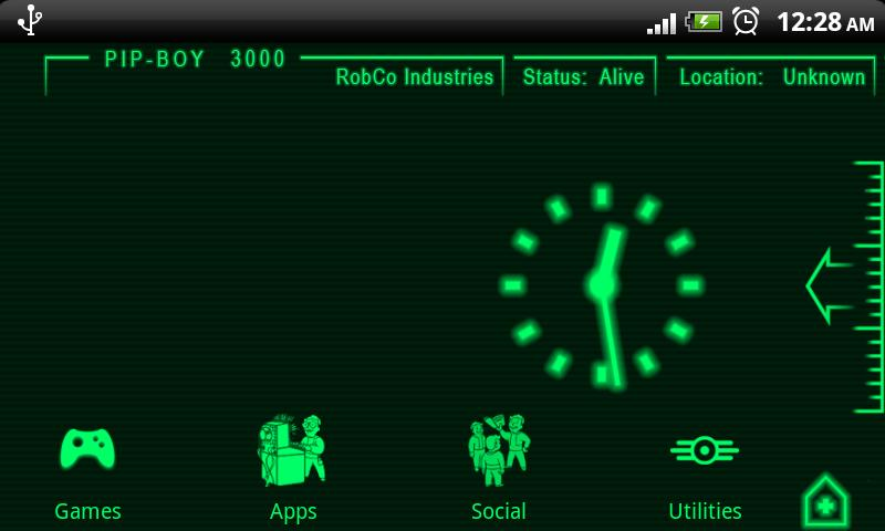 PipBoy 3000 Fallout 3 Theme - screenshot