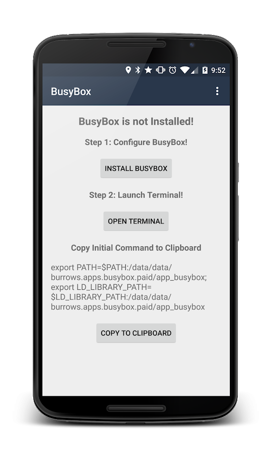BusyBox Install (No Root) - screenshot