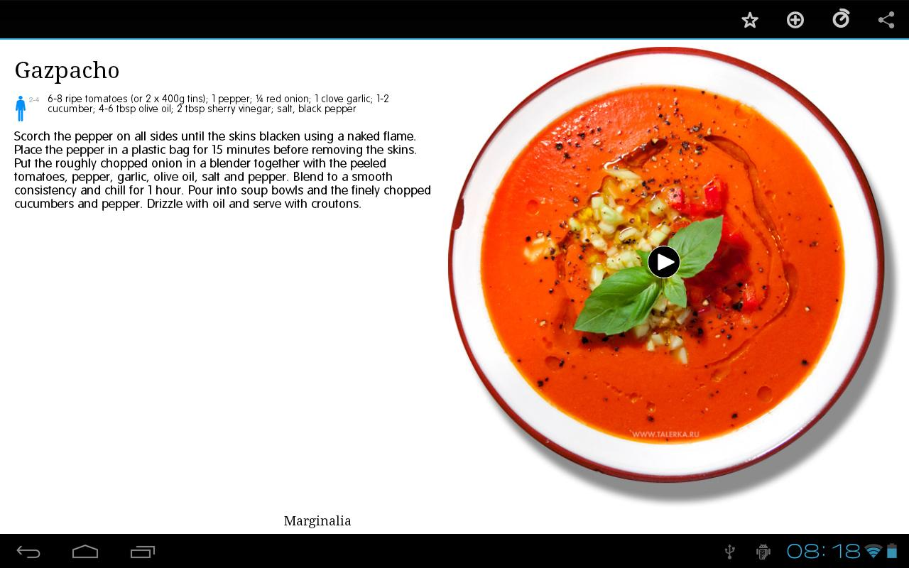 Talerka Video Recipes- screenshot