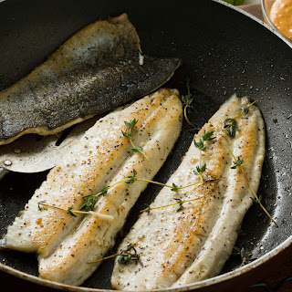 Pan-Fried Trout with Basil Tomato Sauce Recipe