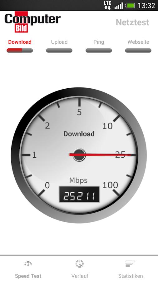 COMPUTER BILD Netztest - screenshot