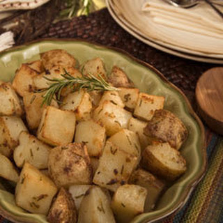 Herb-crusted Russet Potatoes.