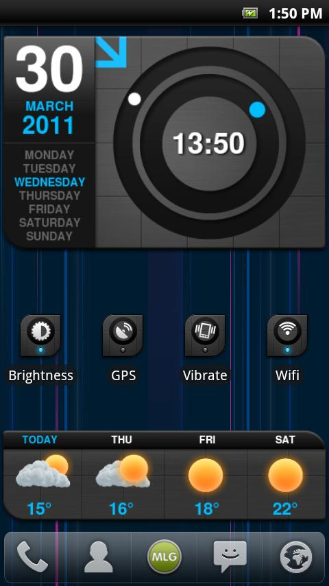 MLG Lightspeed Widget Theme - screenshot