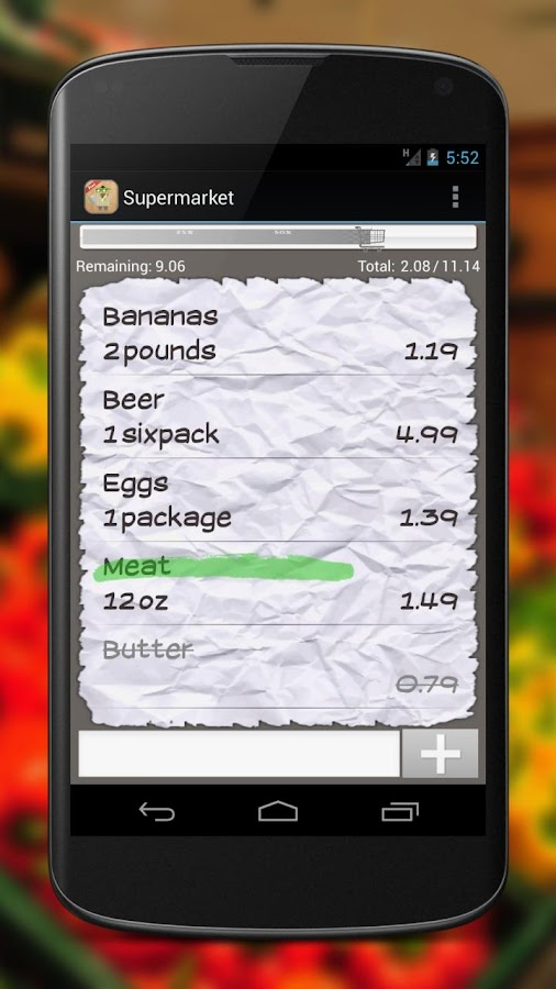 Shopping List - screenshot