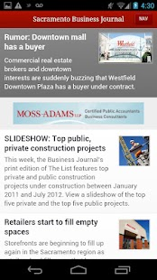 Sacramento Business Journal- screenshot thumbnail