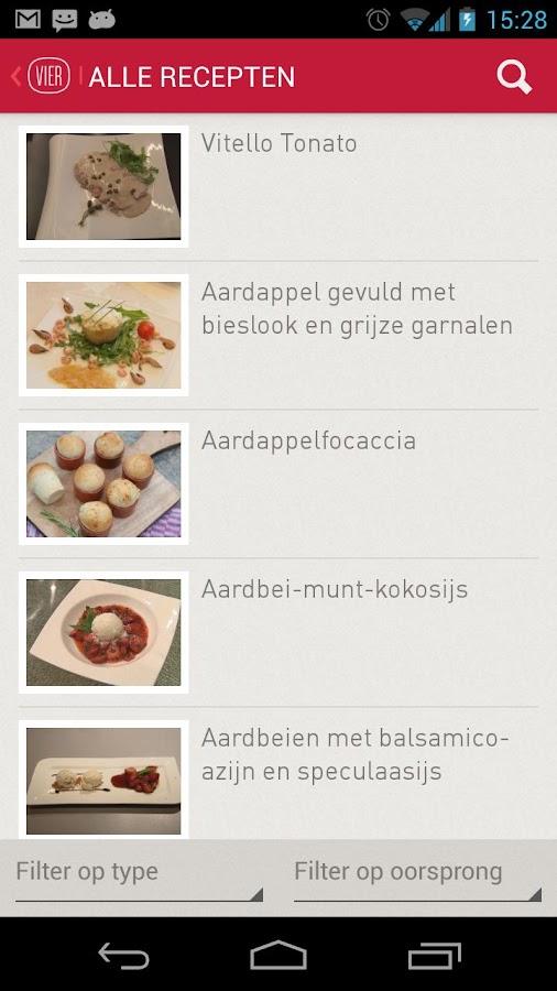 Vier Recepten - screenshot