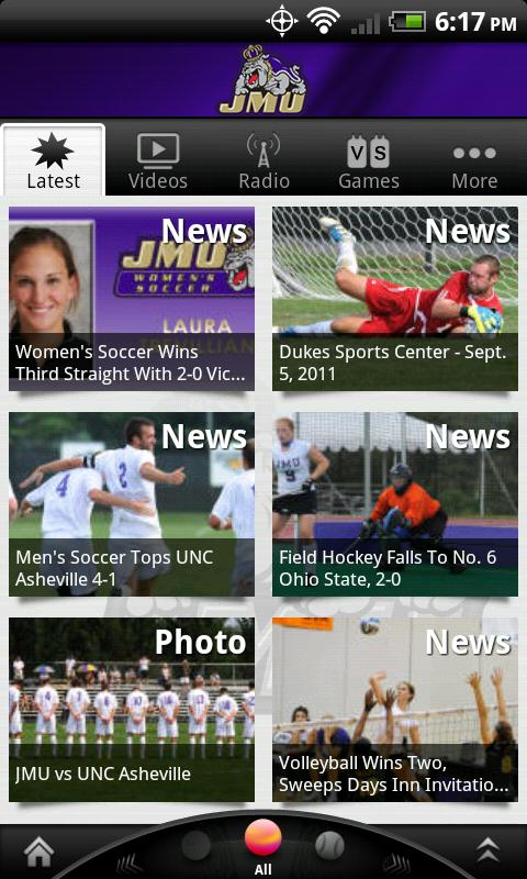 JMU Dukes - screenshot