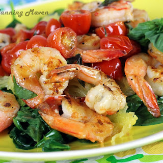 Shrimp with Basil and Cherry Tomatoes