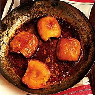 Roasted Apples with Buttermilk Custard Sauce.