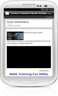 Vector Cheats N Hacks Guides - screenshot thumbnail