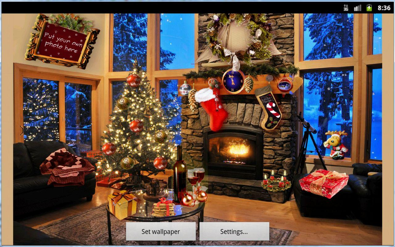 christmas fireplace lwp full android apps on google play