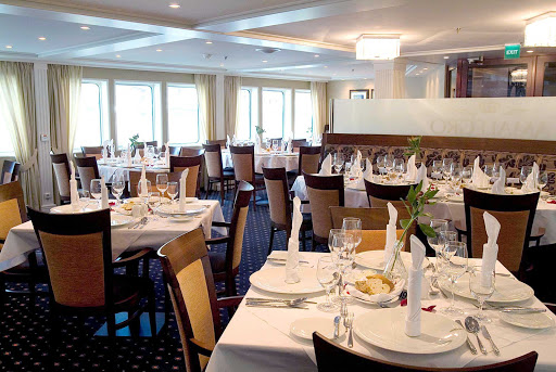 AmaLegro-Restaurant - Dine in the sophisticated restaurant on board AmaLegro as you sail itineraries along the Seine from Normandy to Paris.