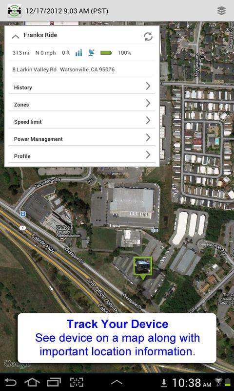 PocketFinder Android- screenshot