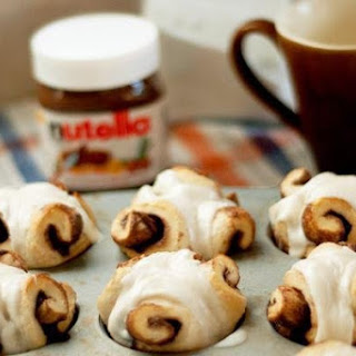 Nutella Rolls With Cream Cheese Frosting.