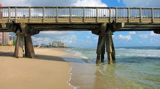 Along the beach in Fort Lauderdale, Florida.
