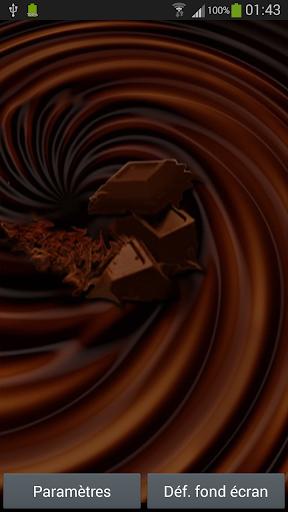 Ripple chocolate effect