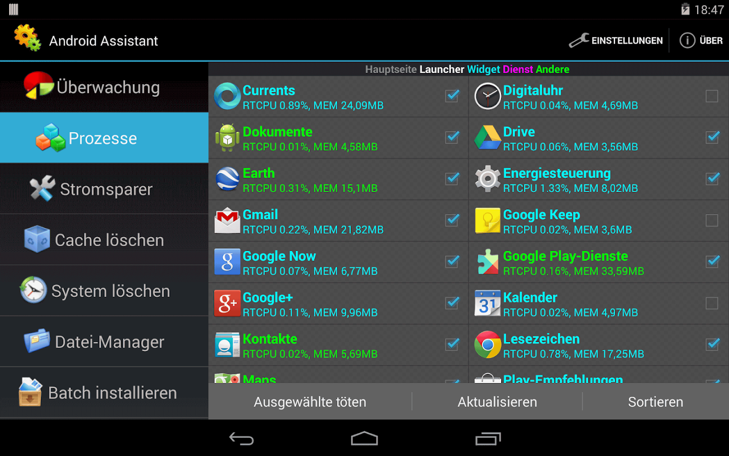 Assistant for Android – Screenshot