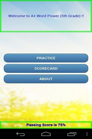 A+ Word Power 5th Grade Lite ! - screenshot