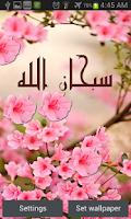 Screenshot of Flowers Islamic Livewallpaper