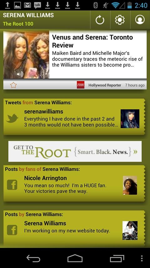 Serena Williams: The Root 100 - screenshot