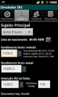 Simulador IRS (2012) - screenshot thumbnail