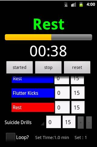 Workout Planner Stopwatch - screenshot