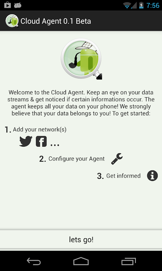 Cloud Agent (Twitter Facebook) - screenshot