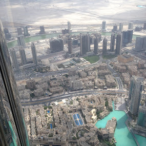 At the Top by Shelina Khimji - City,  Street & Park  Skylines ( at the top, burj al khalifa, burj, buildings, skylines,  )