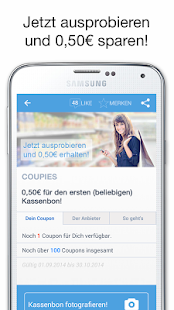 COUPIES Coupons im Supermarkt- screenshot thumbnail