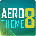 AERO 8 GO Launcher Theme logo