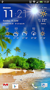 Weather Now: miniatura de captura de pantalla