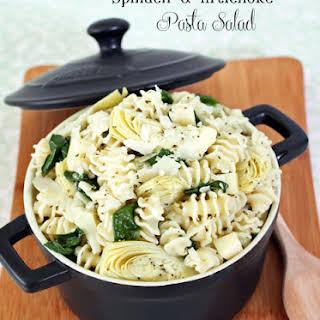 Spinach Artichoke Pasta Salad.
