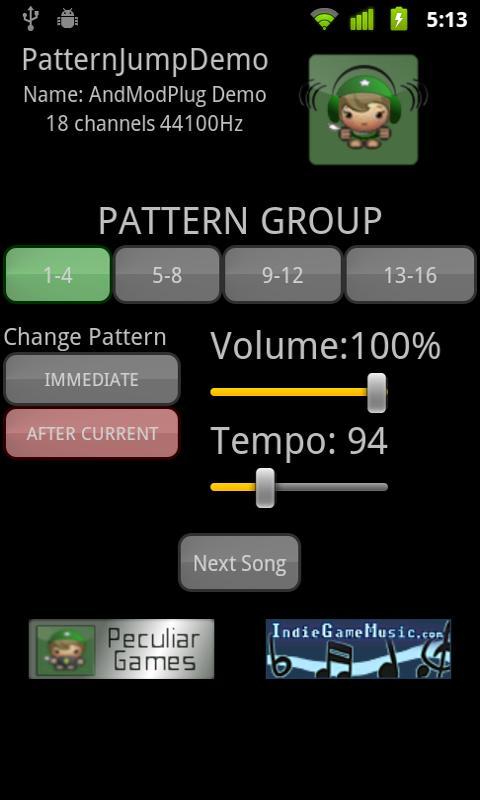 AndModPlug Demos- screenshot