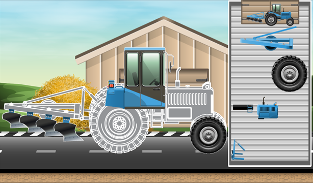 Animated Puzzles tractor farm- screenshot