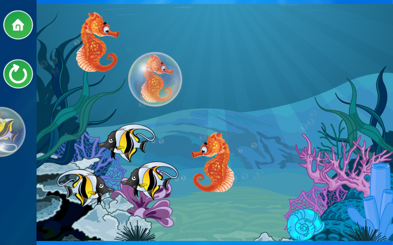 Ocean Fish Scratch & Color  for kids & toddlers 🐬- screenshot