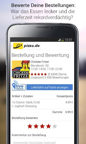 android pizza.de - Essen bestellen Screenshot 9