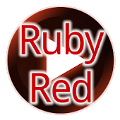 Poweramp Ruby Red Skin