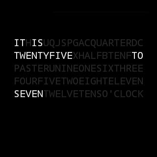 Text Watchface - screenshot