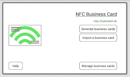 NFC Business Card Android Apps on Google Play