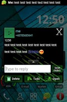 Screenshot of GO SMS PRO Theme Future 2