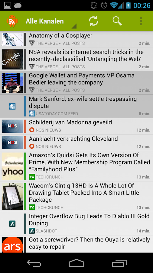 RSS Junkie (RSS Reader) - screenshot